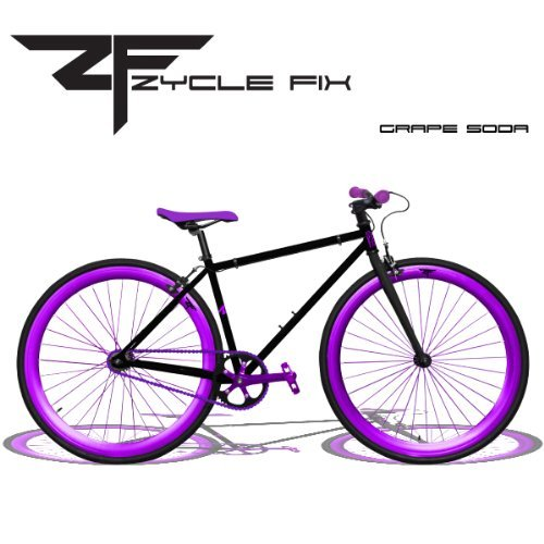 Zycle Fix 48 Inches Fixed Gear Grape Soda Pursuit Fixie Bicycle 48'' by Zycle Fix