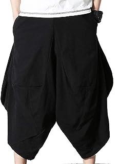 Elodiey Pantaloni da Jogging da Uomo da Spiaggia Lino da in Casual Giovane Uomo con Tasche Pantaloni Tinta Unita