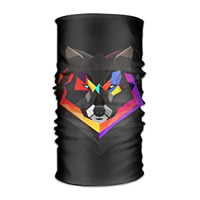 Creative Space Wolf Lovers Headband Bandana Mask Sports Seamless Breathable Hair Band Turban For Workout, Fitness, Running, Cycling, Yoga