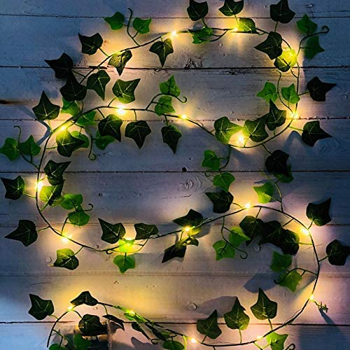 YUEKUN - Guirnalda de luz artificial con 20 luces LED para oficina, cocina, jardín, boda, dormitorio, decoración 2 m: Amazon.es: Hogar