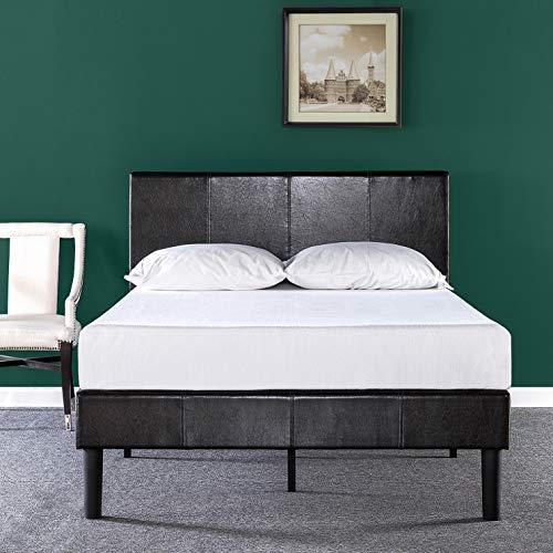 leather bed frame king - 1