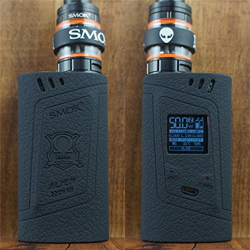 ModShield for Smok Alien 220W TC Silicone Case & TANK BAND ByJojo Skin Cover Sleeve Wrap Shield (Black)