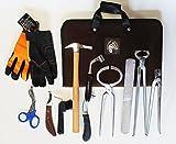 Horse Farrier Tool Kit Grooming Hoof Bot Knife Shoe Puller Nipper Rasp 984109