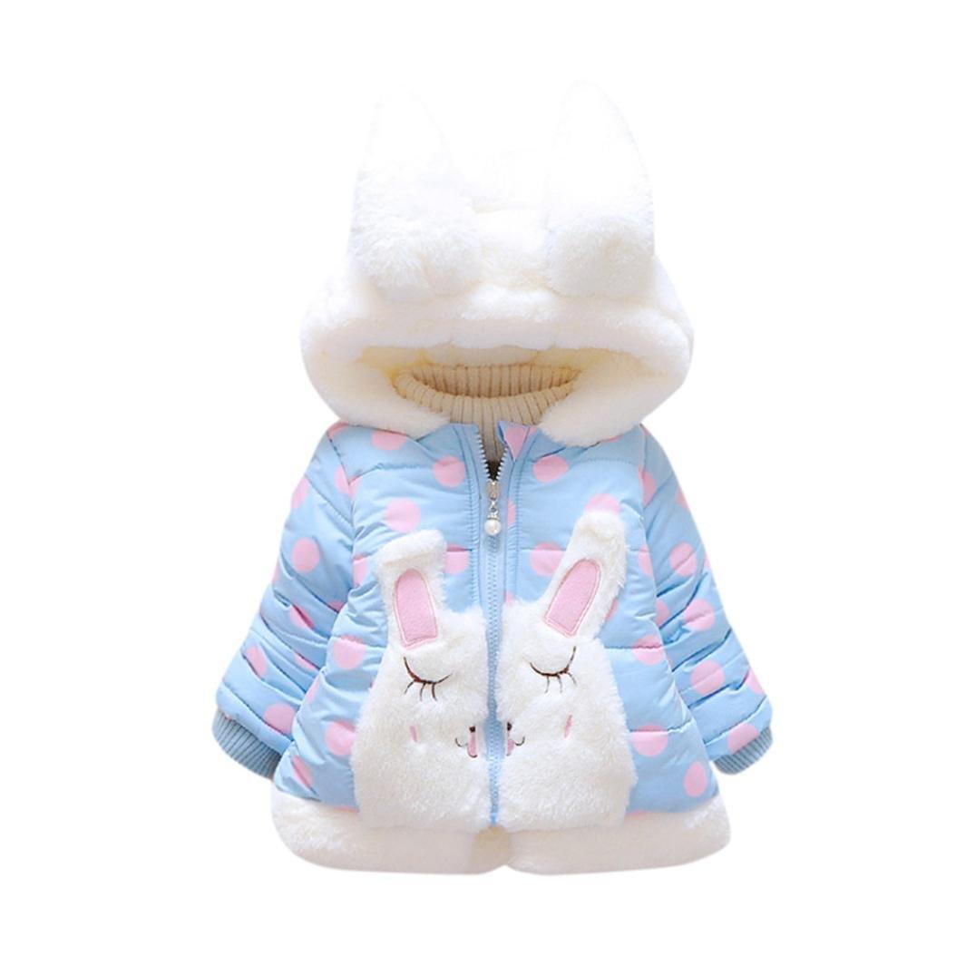 Abrigos Bebé, Xinan Cazadora con capucha y capucha de invierno Ropa gruesa y cálida Ropa de bebé Chaqueta para niños 0-36 Mes Xinantime_3439