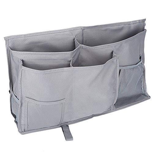 Caddy de cabecera, 8 bolsillos Oxford durable Organizador de almacenamiento colgante multifuncional de la cabecera junto a la...