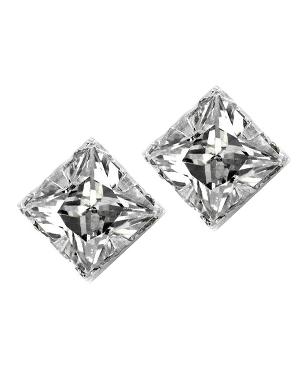 diamond post com screwback cut ip carat silver shaped x wt sterling earrings stud walmart square