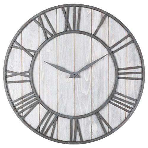 PP&DD Chinese fir Wall Clock,Wrought Iron Creative Vintage Silent Wall Mount.for Decorclock Clockrecord Modern Home-C 40cm(16inch) ()