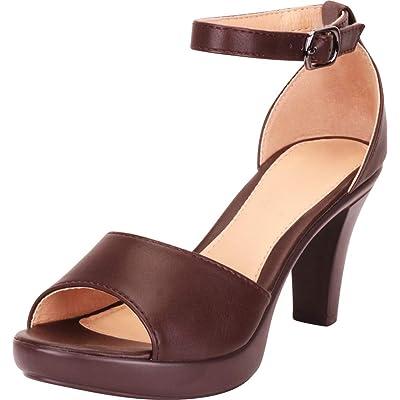 Cambridge Select Women's Ankle Strap Platform Tapered Heel Sandal | Shoes