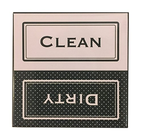 Clean Dirty Dishwasher Magnet - Laundry Sign - Pink ()