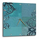 Cheap 3dRose dpp_55088_1 Elegant Vines on Aqua Green-Wall Clock, 10 by 10-Inch