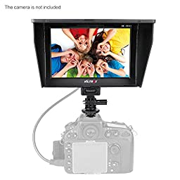 Viltrox DC-70 Clip-on Color 7\'\' TFT LCD HD Monitor HDMI AV Input 1280 * 800 for Sony,Canon,Nikon DSLR Camera Camcorder