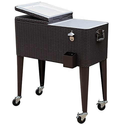 Sundale Outdoor Deluxe 80-Quart Ice Chest Portable Patio ...