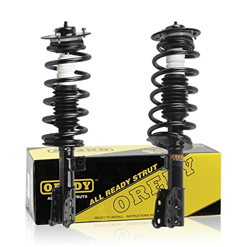 OREDY Front Left & Right 2 Pieces Complete Quick Struts Shock Coil Spring Assembly Kit 9214-0190 9214-0191 ST8618L ST8618R Fits for 2005 2006 Chevrolet Equinox 2006 Pontiac Torrent
