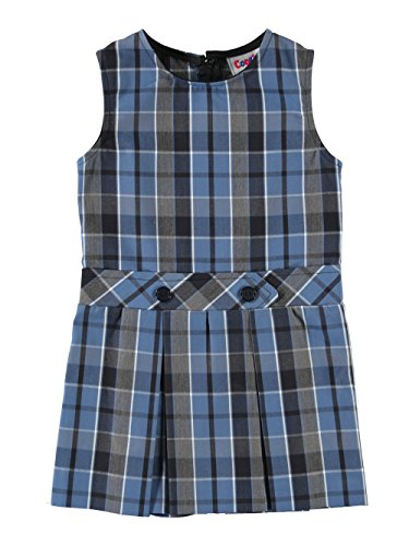 Cookie's Brand Little Girls' Scoop Neck Jumper with Kick Pleats - blue/navy by Cookie's Kids