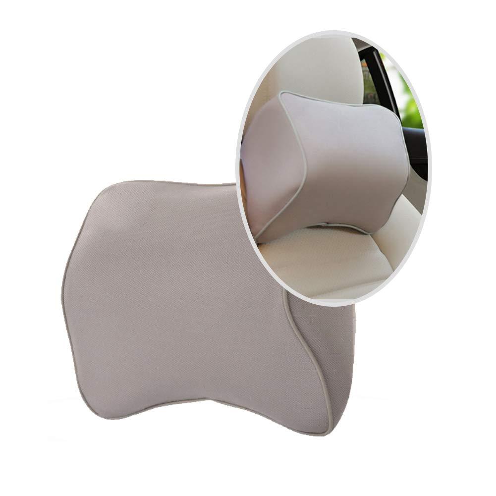 1pc Autom/óvil reposacabezas del Coche de Espuma de Memoria Hueso Almohada para Cuello Almohada para Cuello Almohada Protecci/ón Menaje Suministros Gris