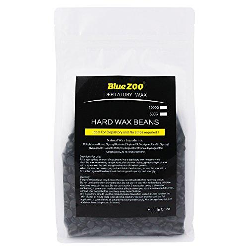 Bluezoo Brazilian Hard Wax Beads Depilatory Solid Hot Film Waxing Pellets for Body Bikini Hair Removal 500g Black