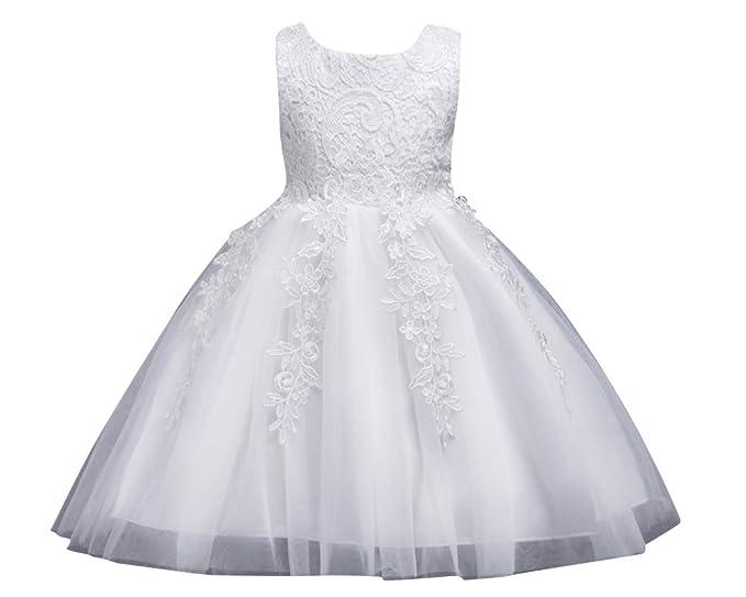 Ufficio Elegante Lungi : Qitun ragazze pizzo tulle vestito lungo bambina elegante principessa