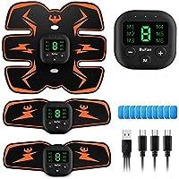 BuFan Abs Trainer, EMS Spierstimulator LCD-scherm & USB Oplaadbare Muscle Toner Fitness Training Gear voor mannen en…