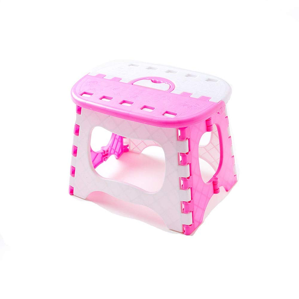Vnlig Folding Stool Plastic Folding Stool Fishing Stool Bathroom Small Bench Children Adult Outdoor Portable (Color : Pink) by Vnlig (Image #1)