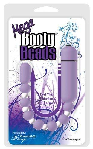 Breeze PowerBullet Mega Booty Vibrating Beads, Lavender