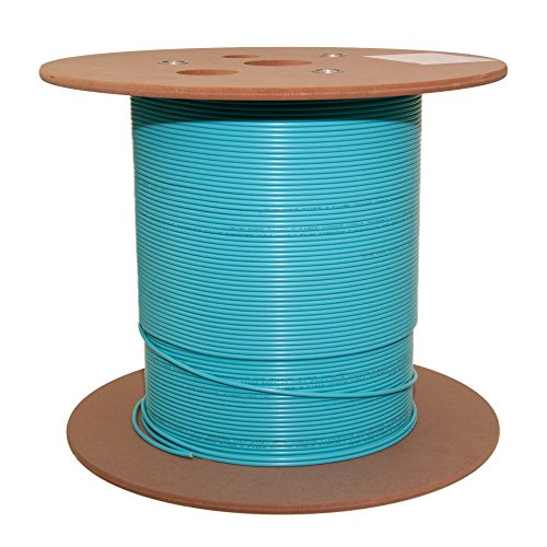 (6 Fiber Indoor Distribution Fiber Optic Cable, Multimode, 50/125, OM3, 10 Gbit, Aqua, Riser Rated, Spool, 1000 Foot)