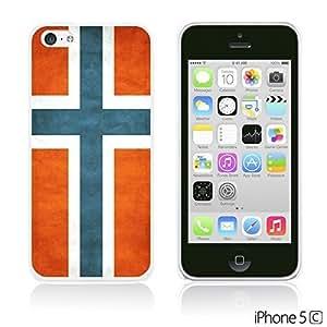 OnlineBestDigitalTM - Flag Pattern Hard Back Case for Apple iPhone 5C - Norway