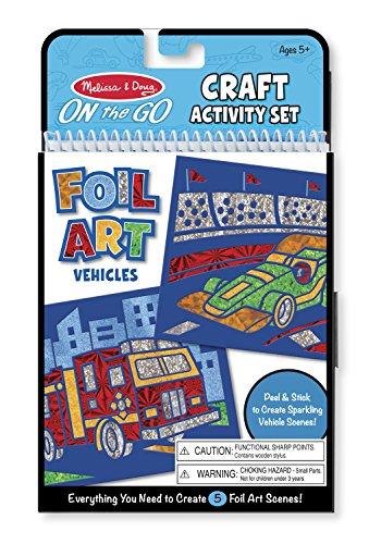 Melissa & Doug On the Go Foil Art Activity Set - Vehicles