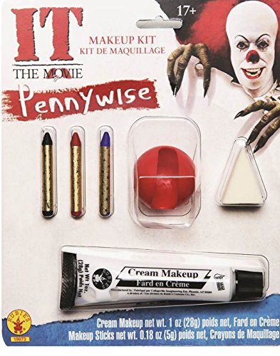 Scary Clown Make Up (Rubie's Costume Men's It Pennywise Adult Make-Up Kit, Multi, One Size)