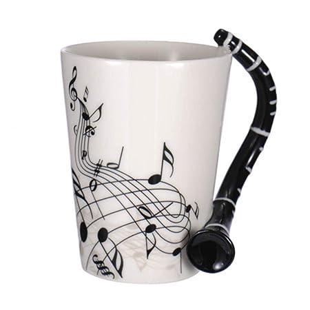Tazas, taza de cerámica creativa de piano guitarra, partitura ...