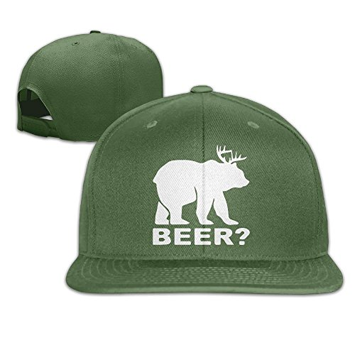 WilliamKL Bear Deer Its A Beer Flat Bill Snapback Adjustable Hiking Cap - Chicago Shopping Airport