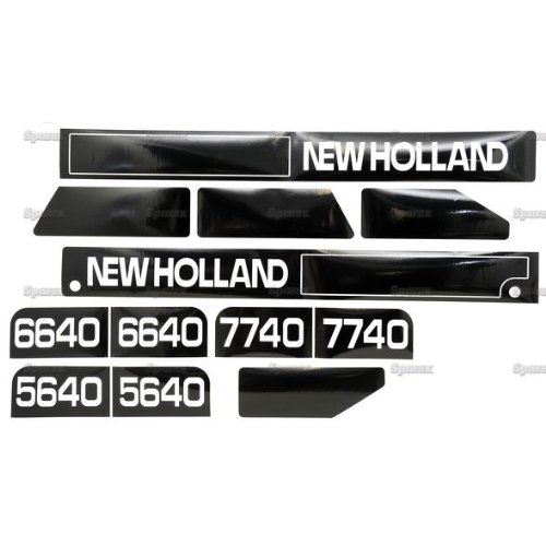 - New Holland 5640, 6640, 7740 Hood Decal Set