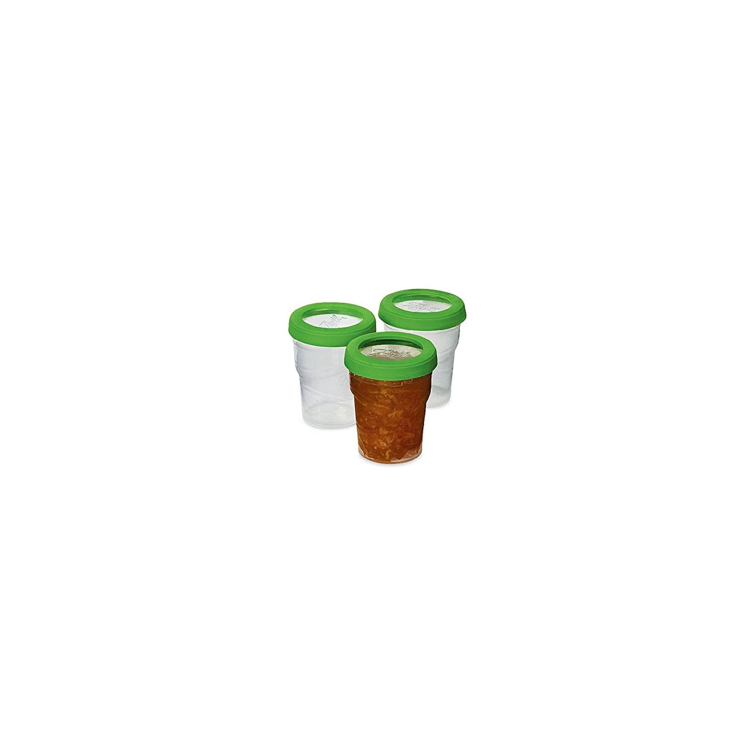 1-Pack Ball Plastic Pint Freezer Jars with Snap-On Lids 3-Count per Pack 8-Ounces
