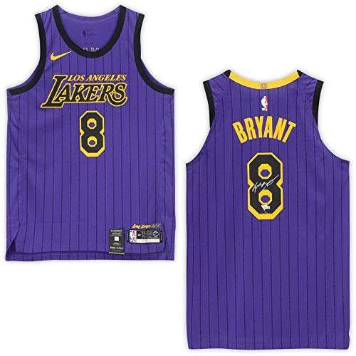 Kobe Bryant Los Angeles Lakers Autographed #8 City Edition Authentic Jersey - Panini Authentic - Fanatics Authentic Certified