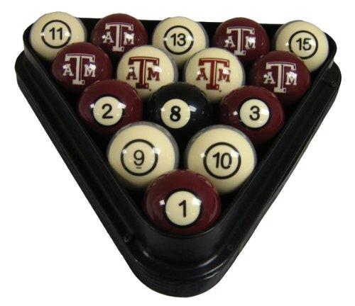 (Wave 7 Texas A&M Aggies Sports Team Logo Billiard Ball - 8)