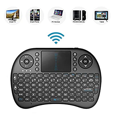 2.4GHz Mini Mobile Wireless Keyboard with Touchpad Mouse, Rechargable Li-ion Battery for LG OLED 65B6P 65W7P 65G7P Smart TV