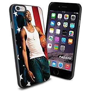 Basketball NBA Dwyane Wade USA Flag , Cool iphone 5c Smartphone Case Cover Collector iphone TPU Rubber Case Black