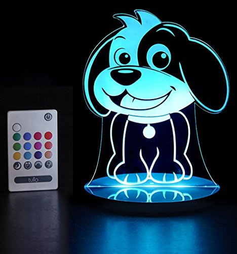 Tulio Dream Lights Cheery Puppy Multi-Use, Multi-Color Night Light ()