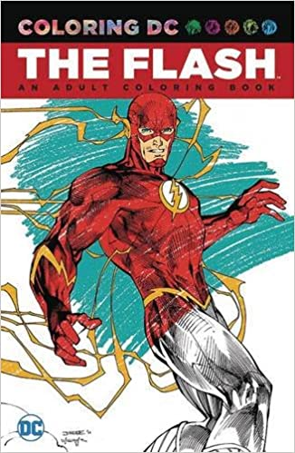 the flash an adult coloring book amazonca various books - Comic Book Coloring