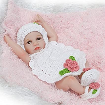 "11/""Handmade Reborn Newborn Mini Baby Doll Full Soft Silicone Vinyl Bath Girl Toy"