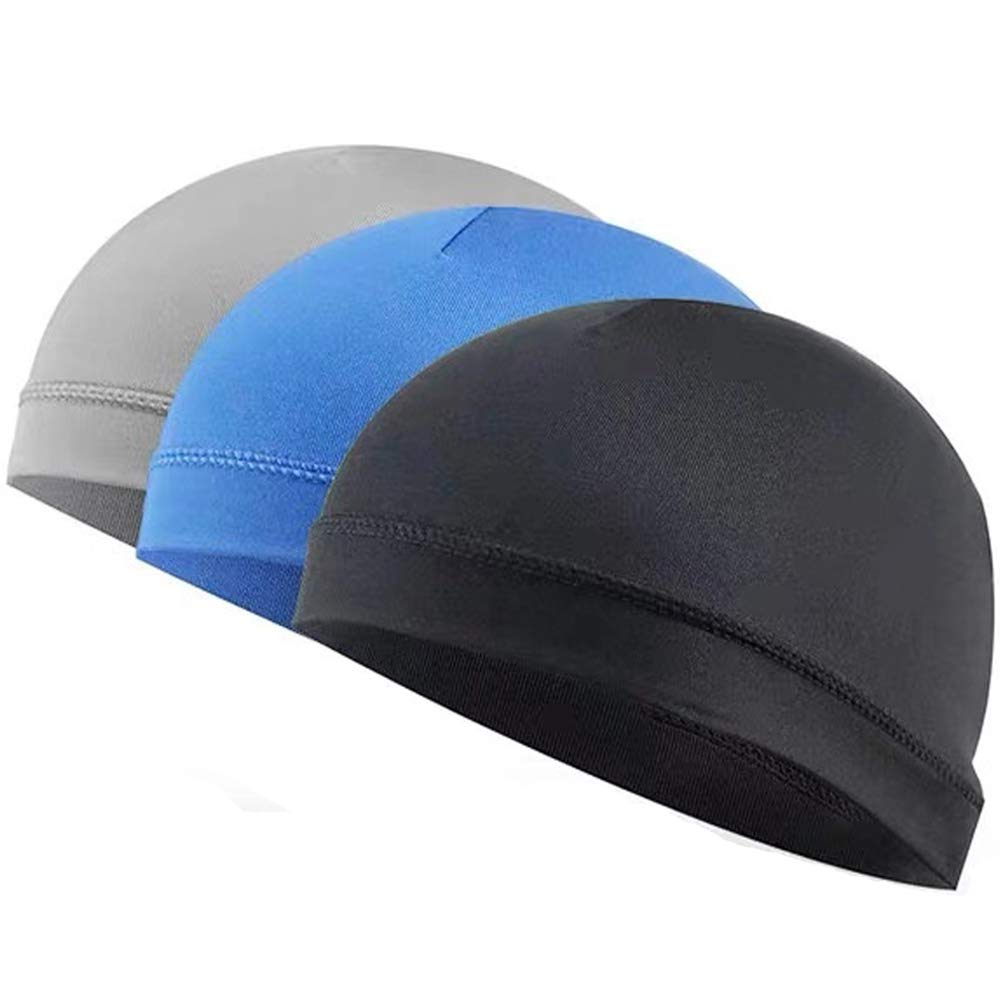 Helmet Caps, Sikuer 3PCS Sport Cycling Wicking Helmet Liner, Quick Dry Skull Hats for Men and Women