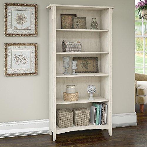 Bush Furniture Salinas 5 Shelf Bookcase in Antique White by Bush Furniture (Image #2)