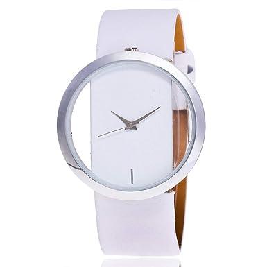 DressLksnf Reloj Lujo Moda de Mujer Pulsera de Acero Inoxidable Superficie Durable Correa de Cuero Digital Clásico Banda de Reloj Colorado Ajuste Elegante ...