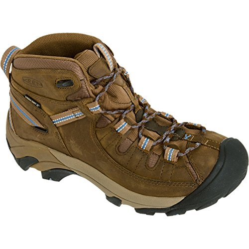 KEEN Women's Targhee II Mid Waterproof Hiking Boot,Slate Black/Flint Stone,8 M US by KEEN