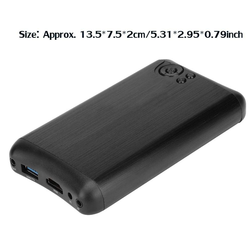 Wendry Media Player Soporta Salidas HDMI y AV m/ás Peque/ñas 2.5 Pulgadas SATA Full HD 1080P Reproductor Multimedia Audio Vedio Player USB3.0 Full HD 1080P Media Player EU 100-240V
