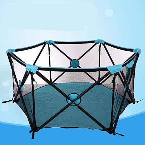 Portable Playard Indoor and Outdoor with Carry Case and Washable, 6-Panel by Cshxsfz (Image #6)