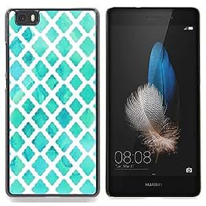 Stuss Case / Funda Carcasa protectora - Blanca de la acuarela azul bebé - Huawei Ascend P8 Lite (Not for Normal P8)