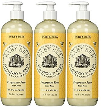 Burt's Bees Baby Bee Fragrance Free Shampoo and Wash 3 Pack (3)