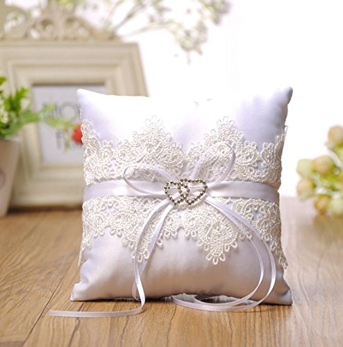 Giga Gud Wedding Ring Pillow 66 inch Bridal Wedding Ceremony Pocket Ring Bearer Pillow Cushion