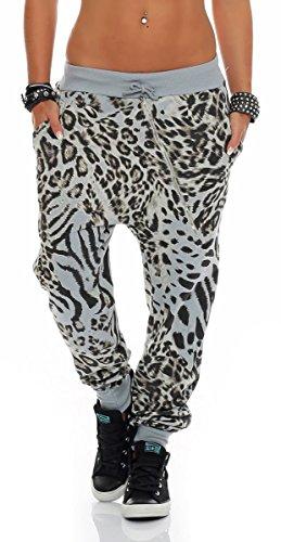 malito dames sweatpants in Leopaard design | Sportbroek met ristsluiting | Baggy om te dansen | Joggingbroek 3344