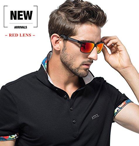 6712a73e46 ATTCL Men s Retro Metal Frame Driving Polarized Sunglasses For Men Women  16560black-red  Amazon.ca  Sports   Outdoors